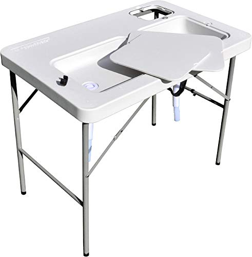 Coldcreek Outfitters Outdoor Washing Table, Sink, Portable and Foldable, Large Dual-Sink Design