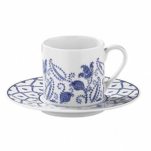 Juego de 6 tazas de café expreso con platillos de porcelana turca
