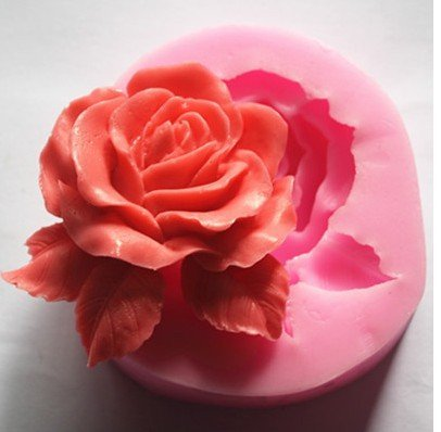 NiceButy Große Rose Blume Silikon 3D Form Kochgeschirr Dekoration Fondant Keks Form Seife Schokolade Form