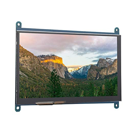 Redxiao 6.5 X 4.9In Display Screen, LCD 1024x600 LCD Screen, Durable Mini for Raspberry Pi