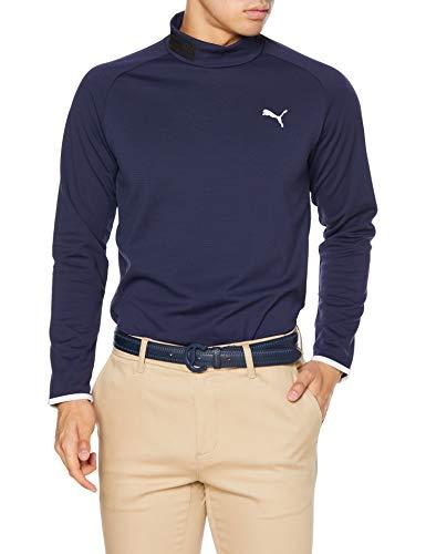[PUMA GOLF(プーマ ゴルフ)]ゴルフ 長袖 ポロシャツ ゴルフ モックネック LS シャツ メンズ ピーコート 日本 XXL (日本サイズ3L相当)