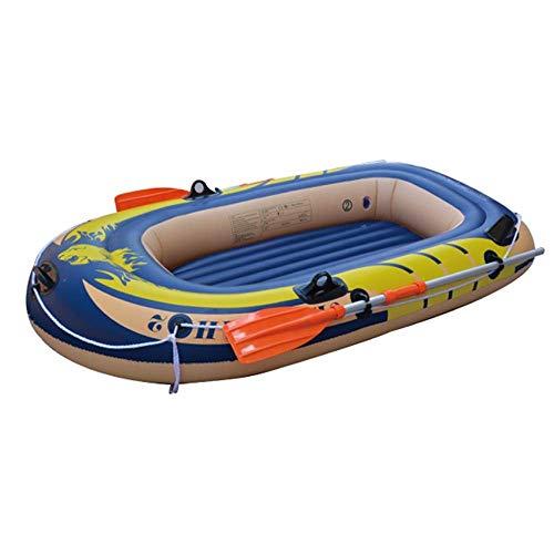 GUOE-YKGM Kayak Schlauchboot Faltkajak Outdoor Beiboot Komfortable Kajak Freizeit Faltboot 1-2 Personen Schlauchboot Marine Sport Angeln Abenteuer Dicke PVC Kunststoff 182 * 112 * 32 cm