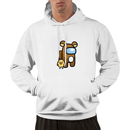 Ril-Ak-Kum-A San A-Mon-G Us Pullover Hoodie Herren 3D Gedruckt Kapuzenpullover Sweatshirt Gr. XXL, weiß