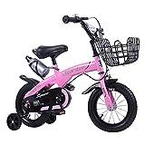 Bicicleta para niños Bicicleta para Niños con Ruedas de Entrenamiento Desmontables para Niño y Niña de 2 A 9 Años 12 14 16 18 Pulgadas Bicicleta para Niños con Soporte de Ruedas de Entrenamiento Bicic