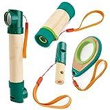 Hape Entdecker-Set - Fernrohr, Pereskop, Lupe und Trillerpfeife für kleine Entdecker -
