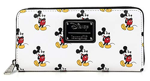 Loungefly Disney Classic Mickey Mouse All Over Print Zip Wallet (one size, multi)