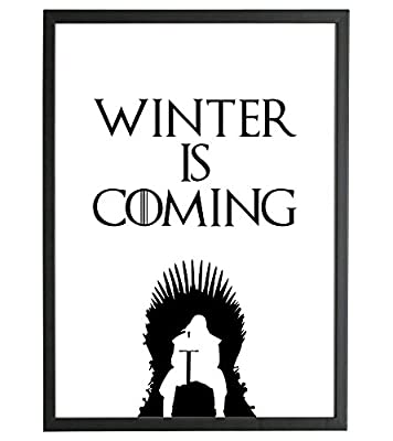 Click to open expanded view A4 Inspirational Game Of Thrones Inspired Motivational Movie TV Quote Wall Art GOT - FRAMED