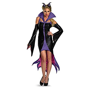 Disguise Women s Disney Sleeping Beauty Maleficent Sassy Costume Purple/Black Small