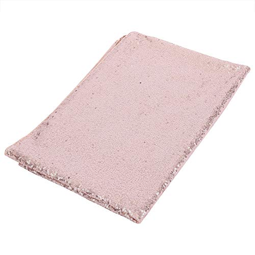 Fdit 100x150 cm Paillettes tovaglia frizzante rettangolo copriletto Lucido da Sposa Partito tovaglia Festa Banchetto Decorativo Runner(Oro Rosa)