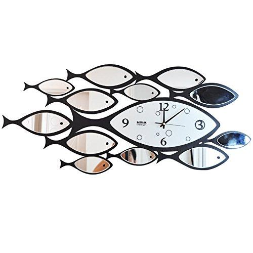 Flashing- creatief design moderne wandklok, ijzeren klok lichaam/glazen klok gezicht/sweep seconden beweging/carbon batterij (zonder batterij) / horloges en horloges