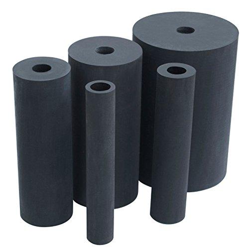 "POWERTEC Oscillating Sander Rubber Drum, 3/4"", 1"", 1-1/2"", 2"", 3"", 5/PK"