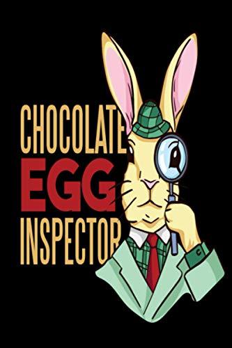 Feliz inspector de huevos de Pascua: Conejo de Pascua vestido como inspector y una cotización que dice el inspector de huevos de chocolate revestido ... - Ideas de regalos temáticos de la novedad
