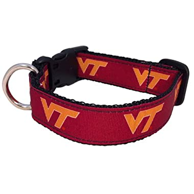 NCAA Virginia Tech Hokies Dog Collar (Team Color, Large)