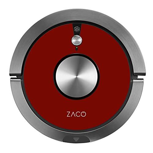 ZACO A9s Robot Aspirador y fregasuelos con WiFi, Alexa, Google, App, Aspiradora y fregadora 2en1 con cámara de navegación, Recipiente XL 600ml, aspiradores silenciosos para pelos de Mascotas, Rojo