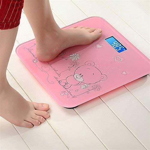 STHITI Tempered Glass & LCD Display Digital Personal Human Body Weighing Scale | Digital Body Weighing Machine | Body Fat Analyzer Bathroom Health Body Weight Scales (Multicolor)