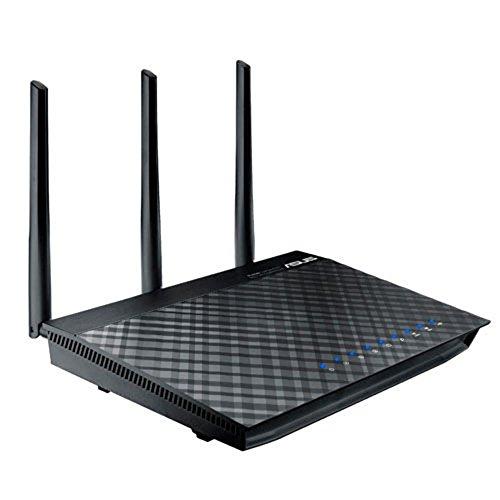 Asus RT-AC66U_B1- Gigabit Router, Wireless AC1750 Mbps, DualBand, 5 porte Gigabit LAN (di cui 1 WAN), 2 Porte USB (2.0), 3 Antenne staccabili Hi-gain 5dBi, Nero/Antracite