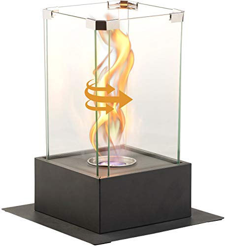 Carlo Milano Ethanol Kamine: Bio-Ethanol-Dekofeuer, Tornado-Flammen-Effekt, bis 60 Min. Brenndauer (Deko-Kamin)