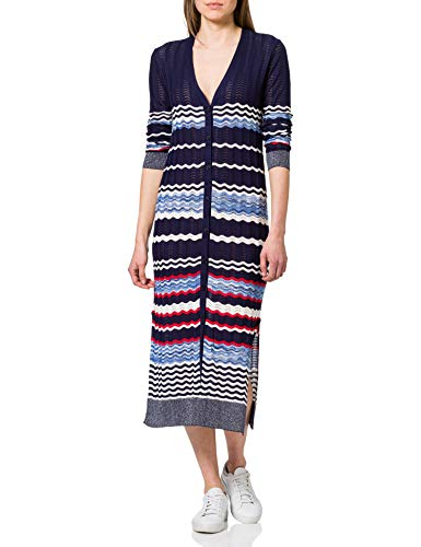 Desigual Womens JERS_Murray Cardigan Sweater, Blue, M