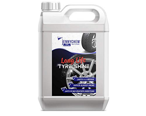 Jennychem Car Tyre Shine Dressing | Cleaning & Protection Tyre Dressing Gel | Wet Look Tyre Shine with High Gloss Shine | 5L Long Life Tyres Shine Cleaner