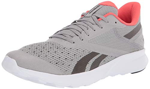 Reebok Men's SPEED BREEZE 2.0, Pure Grey/Black/vivid orange, 10 US medium