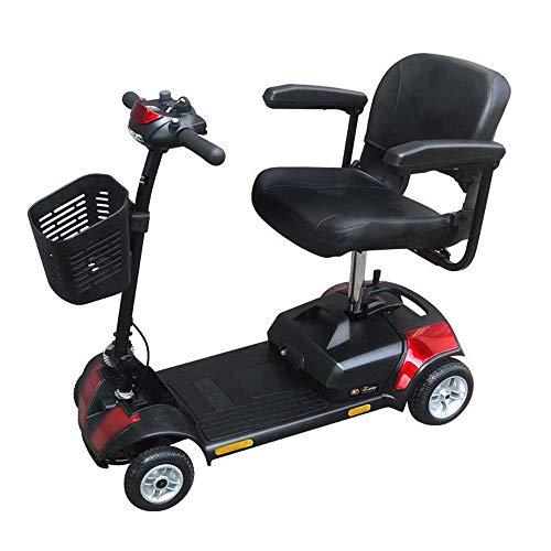 FTFTO Inicio Accesorios Ancianos Discapacitados Ligero Scooter para Ancianos Plegable Scooter eléctrico de 4 Ruedas para Personas Mayores o discapacitadas Kilometraje de conducción de 15 Millas