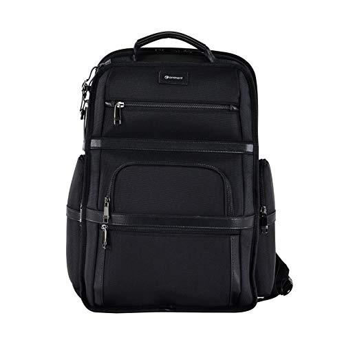 Eminent Laptop-Rucksack Roadmaster 40,6cm (16 Zoll) 28l langlebig leicht Diebstahlschutz für Business, Freizeit, Urlaub, Outdoor, Tagesrucksäcke für Herren, Damen, Uni oder Schule, Schwarz