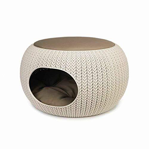 Curver Pets Cozy Cuccia Chiusa, Sandy, 58x57x24 cm