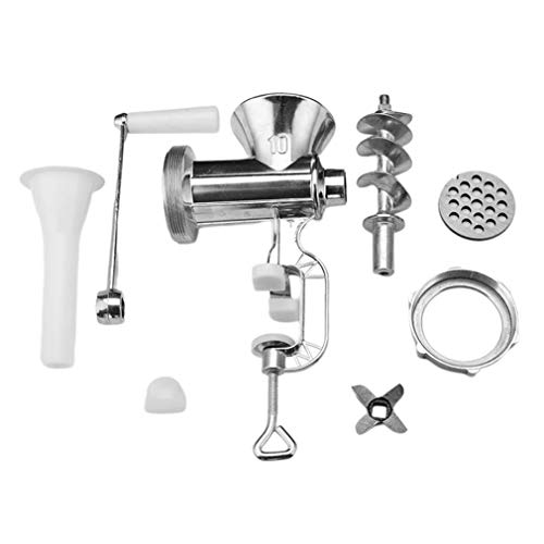 Household Kitchen Manual Meat Grinder Hand-Crank Homemade Sausage Machine Sausage Stuffer Pepper Grinder and Vegetable Cutter Mixers Kitchen Table Home Tool