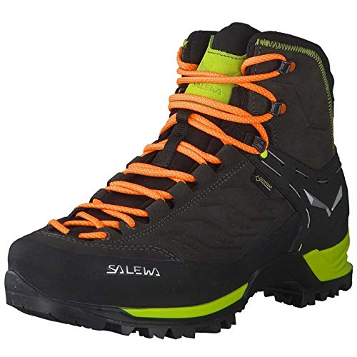 SALEWA Salewa Herren MS Mountain Trainer Mid Gore-TEX Trekking- & Wanderstiefel, Black/Sulphur Spring, 46.5 EU