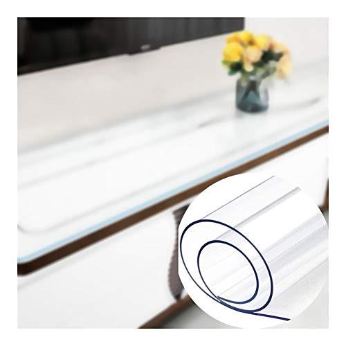 Rectangular Tablecloth, Customizable 1.5/2.0/3.0mm Thickness Heat-Resistant Reduce Noise Waterproof Table Protector for Countertop Bar Floors XSDAA (Color : Clear-3.0MM, Size : 90x140cm)