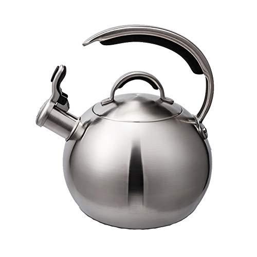 Hervidor de agua, revestimiento de acero inoxidable de 3 litros, gran calibre, fácil de limpiar,Teteras para fogón
