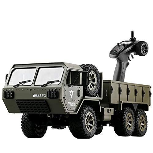 SXLCKJ Camión Todoterreno con Control Remoto, camión Militar RC, Escala 1:16, 6WD, 2,4 GHz, vehículo eléctrico RC, Coches del ejército, Juguetes para Adultos y (Coche Inteligente)