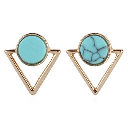 Andouy Mode Einfache Europäische und Amerikanische Ohrringe Wild Damen Modeschmuck(A)