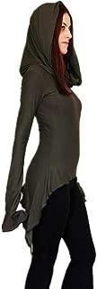 Women Coat,JKRED Fashion Women Long Sleeve Irregular Pixie Tunic Shirt Solid Top Blouse Hooded Pullover