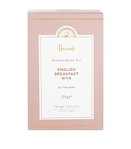 Harrods London. No. 14 English Breakfast, 50 Tea Bags 125g (1 Pack)