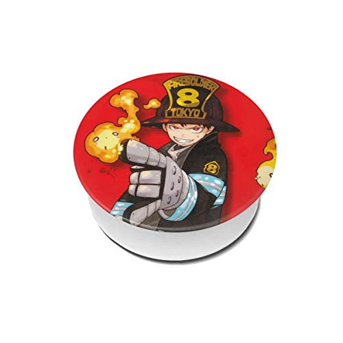 Kwendst Shinra Kusakabe Fire Force Phone Stand Compatible with All Smartphone and Tablet with Matching Hook