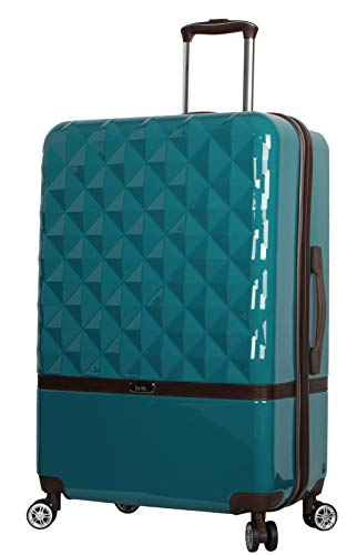 Nicole Miller New York Madison Collection Hardside 24' Luggage Spinner (Peacock)