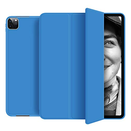 KenKe for iPad Pro 11 Inch 2020 (2nd Generation) Case, Slim Soft TPU Back Protective Cover, Support iPad Pencil Charging, Auto Wake/Sleep iPad Pro 11 2020 case Model A2228 A2068 A2230 A2231-(Blue)