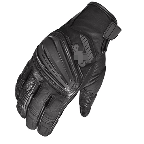 ZZLLFF Motorcycle Gloves Motorrad Rally GS for BMW Motocross Riding MX MTB DH Dirt Bike 2018 Off-Road Racing Cycling Leather Blue (Color : A Black, Size : XL)
