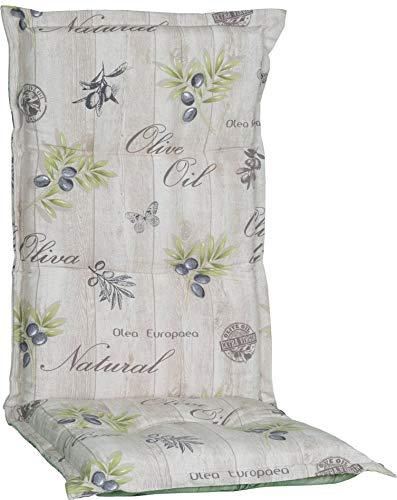 Beo HL Nizza BE745 - Cojín para Muebles de jardín con Respaldo Alto, Color Beige