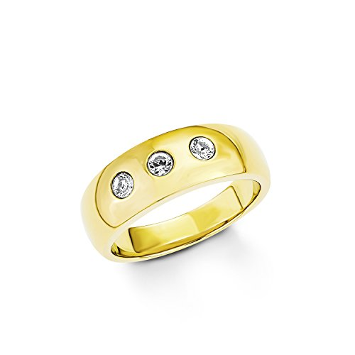 s.Oliver Damen-Ring Swarovski Elements Edelstahl Kristall weiß Gr. 56 (17.8) - 524353
