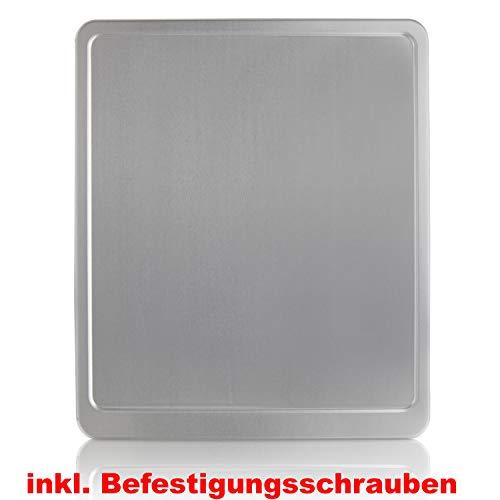 Kennzeichenverstärker Motorrad Kennzeichenhalter SILBER Aluminium 180x200 inkl. BEFESTIGUNGSSCHRAUBEN, Neu