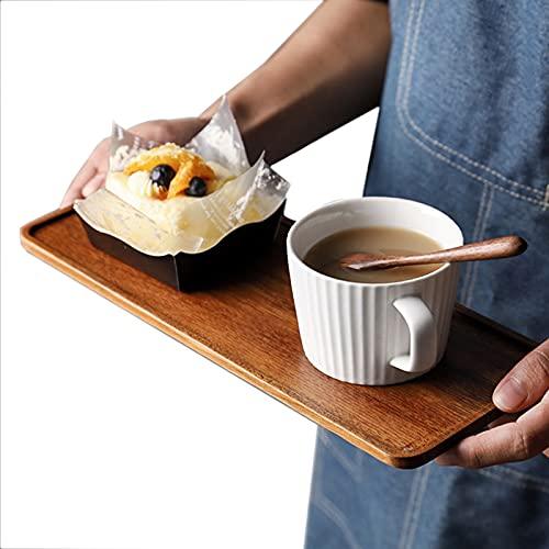 Sucute Tee-Tablett, Südamerikanische Walnussschale Massivholz Nachmittag Obst Dessert Teller Coffee Shop Einfache Snackschale 25 * 11.8 * 1.2cm