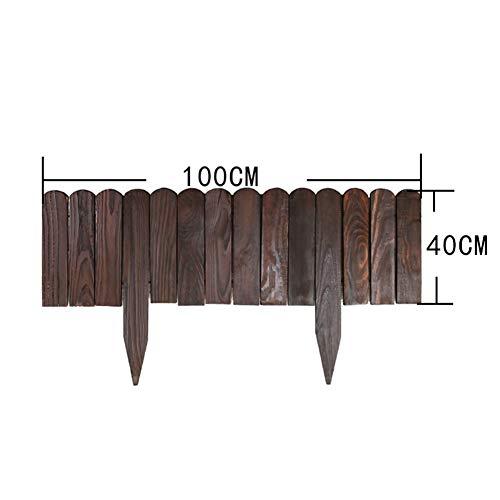 JIANFEI-weilan Holz Zaun Gartentor Gartenzaun Steckzaun Außendekoration Tierleitplanke Pflanzenbarriere Wasserdicht, 8 Größen, 2 Arten (Color : A-Brown, Size : 40x100cm)