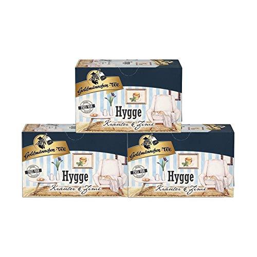 Goldmännchen Tee Hygge Kräutertee aromatisiert mit Zimt-Vanillegeschmack, 20 Teebeutel, 3er Pack