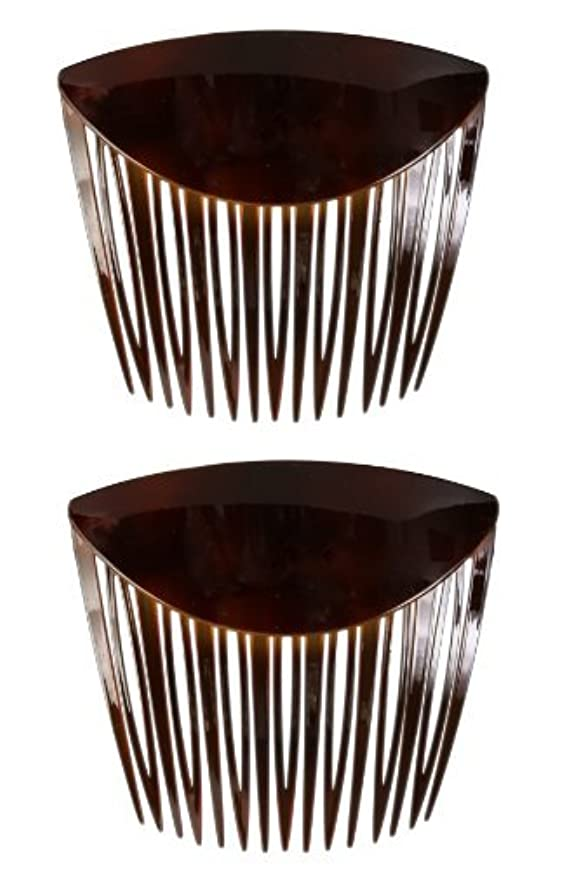 ドループ管理者アイザックCaravan French Long Teeth with Low Fold Over Comb Tortoise Shell Pair.65 Ounce [並行輸入品]