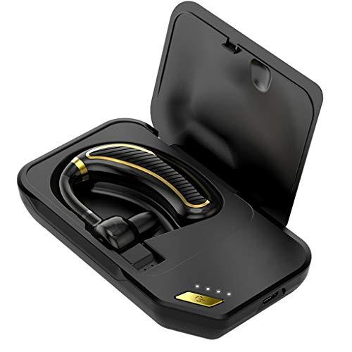 OYSOHE Auriculares Bluetooth V5.0 Auriculares Manos Libres micrófono Incorporado Auriculares inalámbricos para Uso Profesional Auriculares de un Solo oído (Negro)