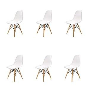 Venduto in un set di 4. Dimensioni: L53 * B47 * H82 cm; Max. Peso dell'utente: 100 kg. Dotato di istruzioni di montaggio, solo in pochi semplici passaggi sarà pronto per l'uso. Seduta moderna in plastica curva modellata per impieghi gravosi, seduta e...