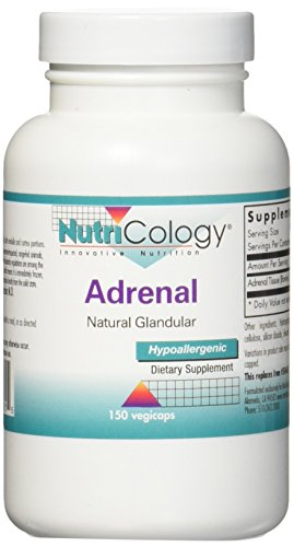 Nutricology, Adrenal Natural Glandular, 150 Kapseln