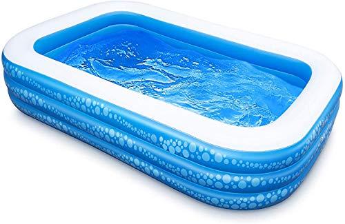 SLAYY Piscina inflable sobre el suelo, piscina infantil de 200 x 150 x 50 cm, piscina familiar para niños